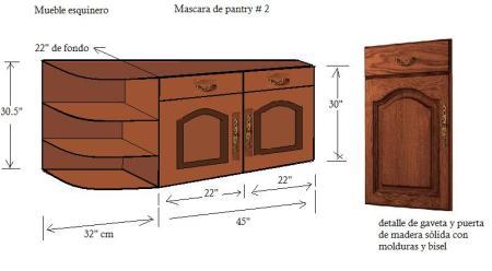 Portafolio de proyectos juegos de sala a medida for Mueble esquinero cocina medidas